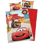 Herding Wende- Kinderbettwäsche Disney Cars Renforcè 100 x 135 cm