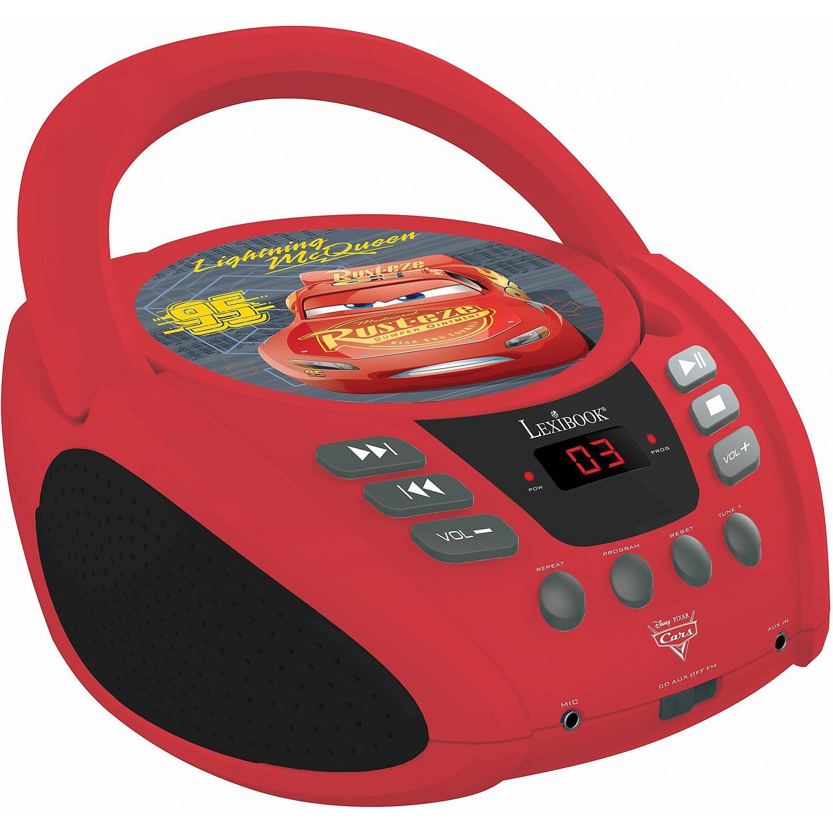 Lexibook Disney Cars CD Player mit Radio neues Design
