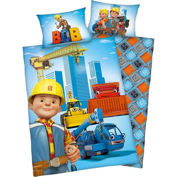 Herding Wende- Kinderbettwäsche Bob der Baumeister Renforcé 100 x 135 cm