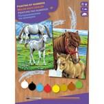 Mammut Spiel und Geschenk 2er Set Malen nach Zahlen Pferde