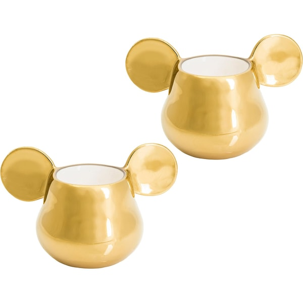 Joy Toy Mickey Mouse 3D Keramik 2 Espresso Tassen Gold