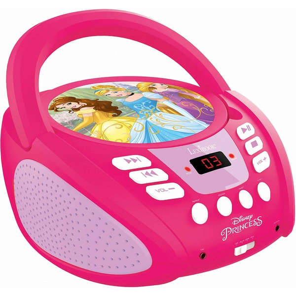 LEXIBOOK Disney Princess CD-Player neues Design