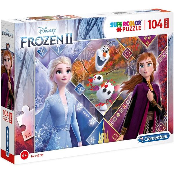 Clementoni Puzzle 104 Teile Maxi Die Eiskönigin 2
