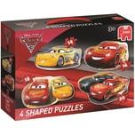 Jumbo 4in1 Konturenpuzzle Cars 3 14/16/18/20 Teile