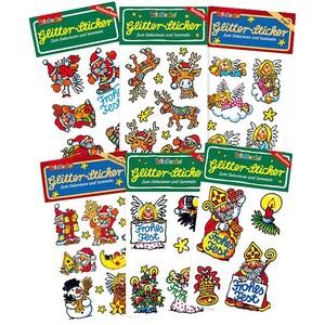 Lutz Mauder Verlag Glitter-Sticker-Set Weihnachten 6-tlg.