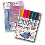 Folia Textilmaler, 6 Farben, mehrfarbig, 6-teilig (1 Set)