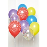 Amscan DIY Ballonbouquet Happy Birthday Regenbogen10 Ballons