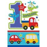 Amscan Einladungskarten All Aboard Birthday 1. Geburtstag 6 Stück inkl. Umschläge