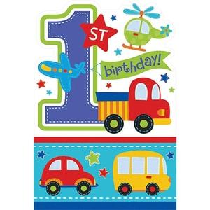 Amscan Einladungskarten All Aboard Birthday 1. Geburtstag 8 Stück inkl. Umschläge