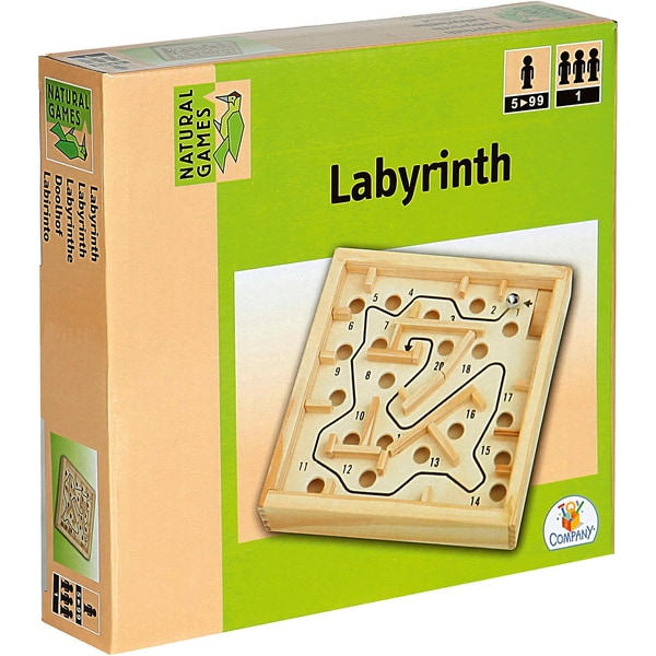 Natural Games Holz Labyrinth 12x12cm