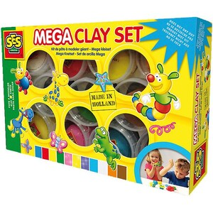 Ses Creative Ses Creative 00459 Mega-Knetset Superclay 11 x 90 g