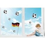 Fenster Sticker Fußball 9-tlg.