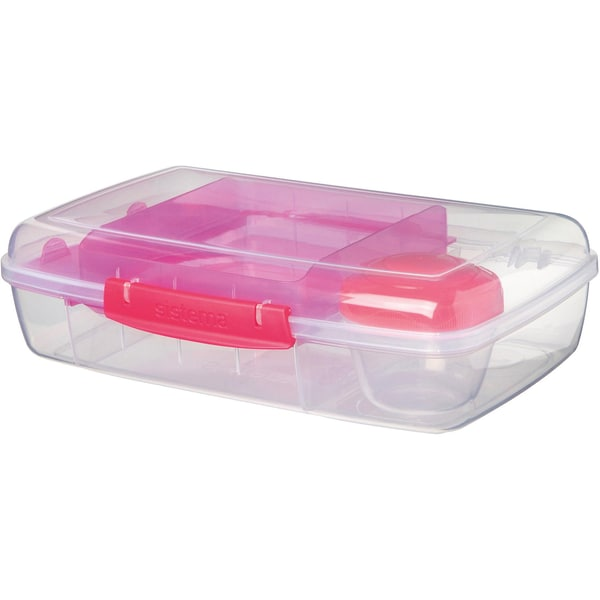 sistema LUNCH Brotdose Bento Box inkl. Joghurt-Dose pink