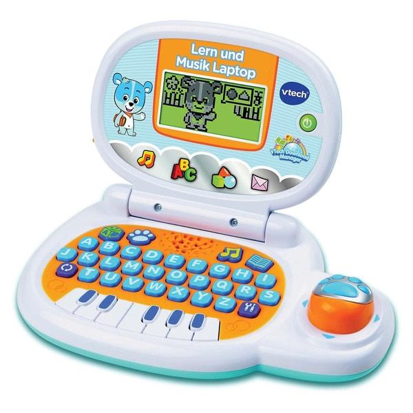 VTech Lerncomputer Lern und Musik Laptop weiß/hellblau