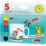 C. KREUL Hobby Line Porzellanmalstifte Porcelain Pen easy, 5 Farben