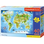 Castorland Bodenpuzzle 40 Teile Maxi Weltkarte