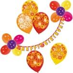 Riethmüller Luftballon-Dekoset Happy Birthday 21-tlg.