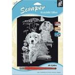 Mammut Spiel und Geschenk Kratzbild Scraper Labrador silber