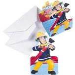 Amscan Einladungskarten inkl. Umschläge Feuerwehrmann Sam 8 Stück
