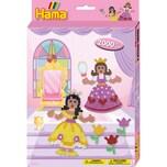 Hama Perlen 3444 Geschenkset Prinzessinnen 2.000 Midi-Perlen Zubehör