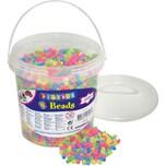 Playbox Bügelperlen im Eimer 5.000 Stück Pastell-Mix