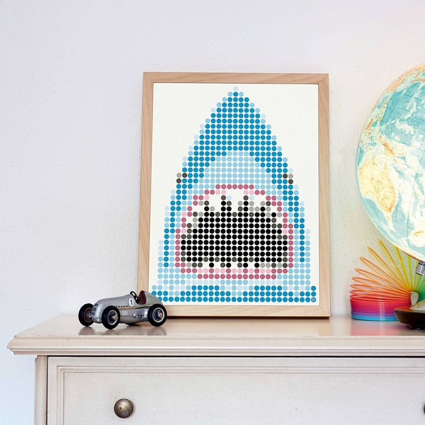 dot on art pirate - shark 30 x 40 cm