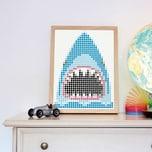 dot on art pirate - shark 30 x 40 cm