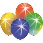 Happy People LED Luftballons bunt mit Blinkeffekt 4 Stück