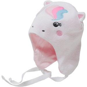 YO! Baby Mütze für Mädchen zum Binden Einhorn