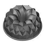Kaiser Inspiration Design-Gugelhupfform 25 cm, mit geometrischer Oberflächenstruktur, Aluminiumguss, antihaftbeschichtet, gleichmäßige Bräunung