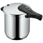 WMF Perfect Schnellkochtopf 8,5l, Cromargan Edelstahl poliert, 2 Kochstufen Einhand-Kochstufenregler, induktionsgeeignet, spülmaschinengeeignet, Ø 22 cm