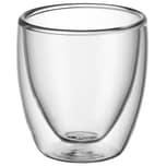 WMF Kult doppelwandige Espressogläser-Set 2-teilig, Thermoglas, hitzebeständig, spülmaschinengeeignet, V 80ml, H 6,5cm