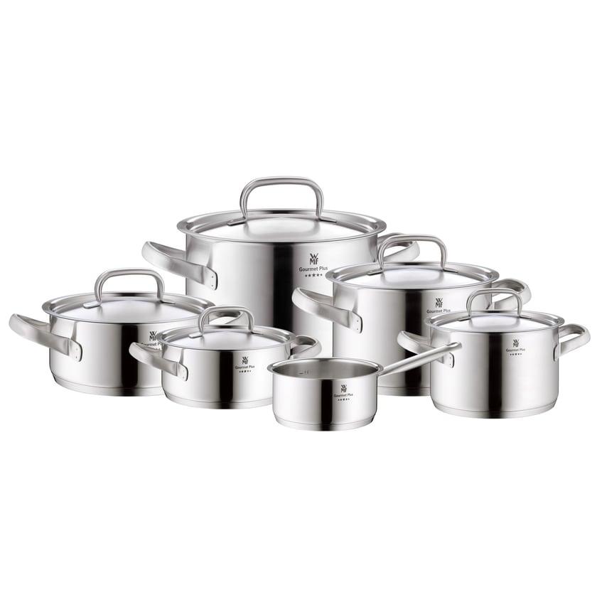 WMF Gourmet Plus Topfset mit Metalldeckel 6-teilig