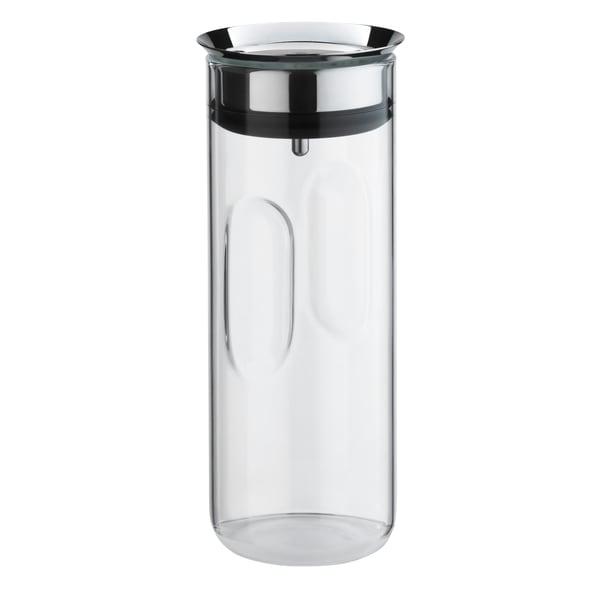 WMF Motion Wasserkaraffe 0,8l, Höhe 24 cm, Glas-Karaffe, Silikondeckel, CloseUp-Verschluss, Griffmulde, spülmaschinengeeignet