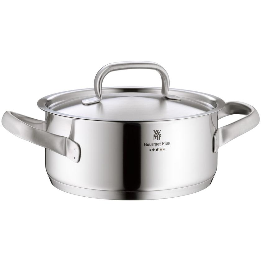 WMF Gourmet Plus Kochtopf mit Metalldeckel Ø 16cm 1,4l silber