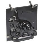 Kaiser 3D Backform Hase 0,5l, antihaftbeschichtet, Kuchenform für Ostern, Befestigungsklammern