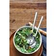 WMF Nuova Salatschüssel Set 3-teilig Salatbesteck mit Salatschale Cromargan Edelstahl poliert spülmaschinengeeignetPorzellan, L 30 cm