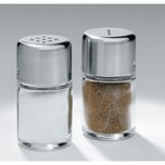 WMF Bel Gusto Salz und Pfeffer Streuer Set 2-teilig, Streuer klein, Salzstreuer mini, Cromargan Edelstahl mattiert