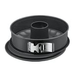 Kaiser La Forme Plus Springform 28 cm rund, 2 Böden, Flach- und Rohrboden, runde Backform, SafeClick-Verschluss, Emailleboden, antihaftbeschichtet, schnittfest, auslaufsicher