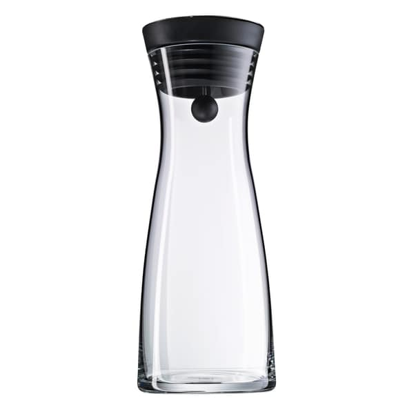 WMF Basic Wasserkaraffe 0,75l, Höhe 23,7 cm, Glas-Karaffe, Silikondeckel, CloseUp-Verschluss