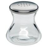 WMF Wagenfeld Salzstreuer Max und Moritz, Glas, Cromargan Edelstahl, spülmaschinengeeignet, H 4,5 cm