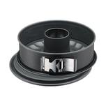 Kaiser La Forme Plus Springform 26 cm rund, 2 Böden, Flach- und Rohrboden, runde Backform, SafeClick-Verschluss, Emailleboden, antihaftbeschichtet, schnittfest, auslaufsicher