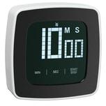 WMF Digitaler Kurzzeitmesser 7,5 x 7,5 cm, Timer, Eieruhr Cromargan Edelstahl schwarz