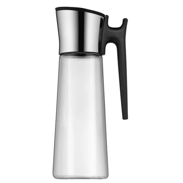 WMF Basic Wasserkaraffe mit Griff 1,5l, Höhe 31 cm, Glas-Karaffe, Silikondeckekl, CloseUp-Verschluss