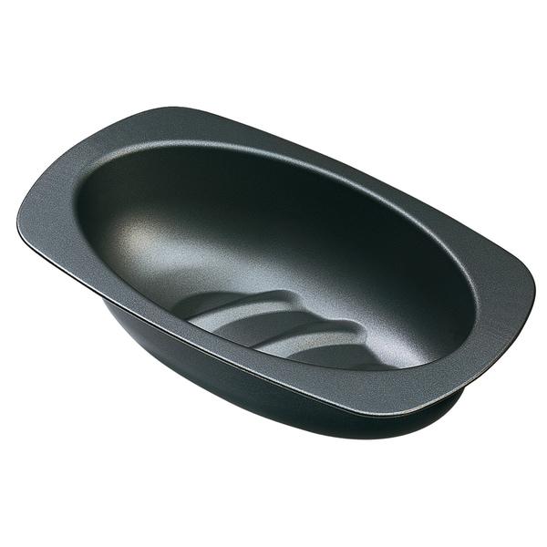 Kaiser Inspiration Brotbackform oval 32 cm, Brotform für 750g-Brote, Kastenform antihaftbeschichtet, sauerteigbeständig, praktischer Griffrand