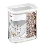 Mepal Modula Vorratsdose, Kunststoff, 1500 ml, transparent/weiß (4er Pack)