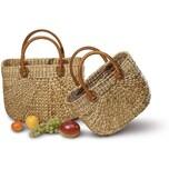 Neustanlo Einkaufstasche aus Wasserhyazinthe Klein, kurzer Henkel