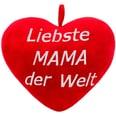 Brubaker Riesiger XXL Teddybär 150cm Beige mit einem Liebste Mama der Welt Plüschherz