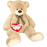 Brubaker Riesiger XXL Teddybär 150cm Beige mit einem Einen Engel ohne Flügel nennt man Mama Plüschherz