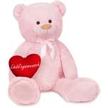Brubaker XXL Teddybär 100 cm Rosa mit einem Lieblingsmensch Herz